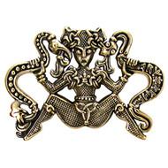 Bronze Ormhaxan Snake Witch Pendant