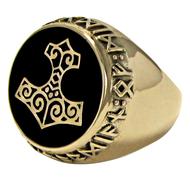 Large Bronze Thors Hammer Ring