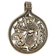 Bronze Skadi Norse Goddess Pendant Jewelry