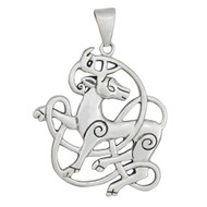 Sterling Silver Celtic Stag Pendant