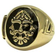 Large Bronze Odin Valknut Signet Ring