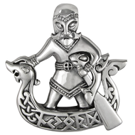 Sterling Silver Norse God Njord Pendant