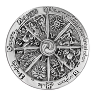 Sterling Silver Wheel of the Year Brooch