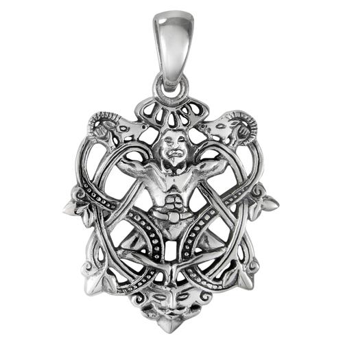 Sterling Silver Cernunnos Knot Pendant