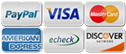 We accept major credit cards, bank draft and Paypal