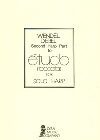Diebel:  Second Harp Part for Etude(toccata) for Solo Harp