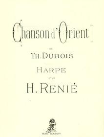 Dubois/Renie: Chanson d'Orient
