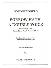 Binkerd: Sorrow Hath A Double Voice(for Solo High Voice, unison male or female chorus and harp, hp part)