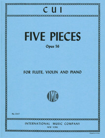Cui: Five pieces (Flute, Piano, VIolin)