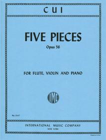 Cui: Five pieces (Flute, Piano, VIolin)