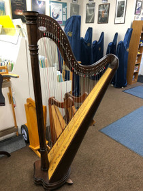 USED Special Salvi Ana Lever Harp (Walnut) 3 years old with special soundboard dec!
