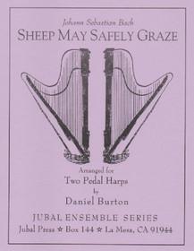Bach/Burton: Sheep May Safely Graze (2 harps) (Downloadable)
