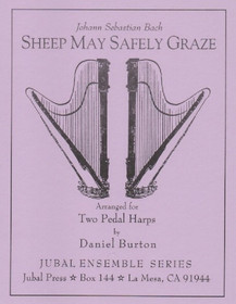 Bach/Burton: Sheep May Safely Graze (2 harps) (Digital Download)