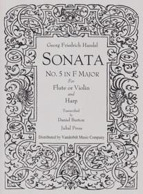 Handel/Burton: Sonata No. 5 in F Major for Flute or Violin and Harp (Digital Download)