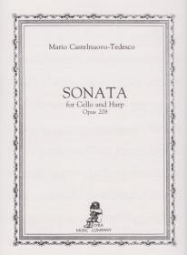 Castelnuovo-Tedesco: Sonata for Cello & Harp (Cello Part Only)