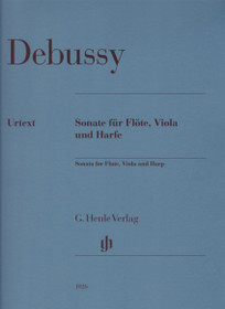 Debussy/Verlag: Sonata for Flute, Viola and Harp
