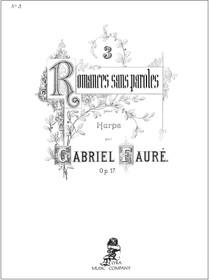 Faure/Hasselmans: Romances Sans Paoles Op. 17 No. 3