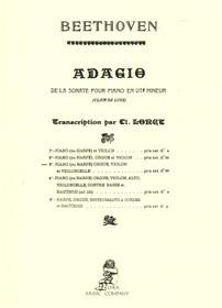 Beethoven/Lorge: Adagio de la sonate pour piano in ut# mineur (hp, violin, et violincelle) (Digital Download)