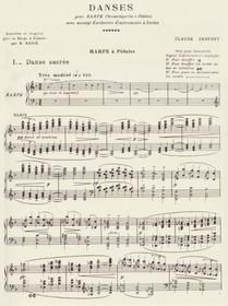 Debussy: Danses Sacree & Profane (harp part) (Digital Download)