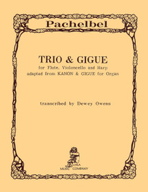 Pachelbel/Owens: Trio and Gigue for Flute, Cello and Harp (Digital Download)