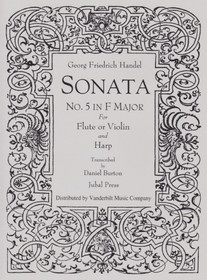 Handel/Burton: Sonata No. 5 in F Major for Flute or Violin and Harp