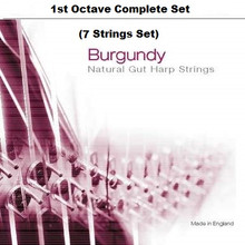 Burgundy, 1st Octave Set (7 strings)