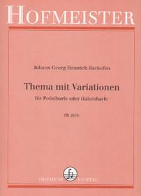 Johann Georg Heinrich Backofen: Thema mit Variationen Thema mit Variationen fur Pedalharfe oder Hakenharfe