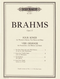 Brahms: Four Songs (Score and Parts)
