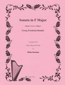Handel/Avesian: Sonata in F Major, arrangement for Harp, Flute and Violin