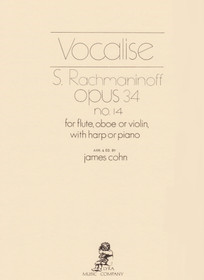 Rachmaninoff/Cohn: Vocalise Op. 34 No. 14 for Flute, Oboe or Violin, with Harp or Piano
