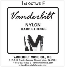 Vanderbilt Nylon, 1st Octave F (Black)