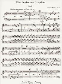 Brahms: Ein Deutsches Requiem (A German Requiem) (Harp Part)
