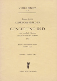Albrechtsberger: Concertino in D for Flute (FLUTE PART ONLY)