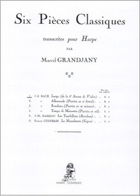 Bach, J.S./Grandjany: Six Pieces Classiques Largo (de la 5th Sonate de Violin)