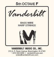 Vanderbilt Standard Bass Wire 5th octave F