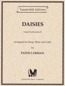 Rachmaninoff/Carman: Daisies For Flute, Cello and Harp