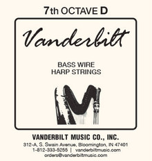 Vanderbilt Standard Bass Wire 7th octave D