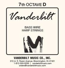 Vanderbilt Standard Bass Wire 7th octave D