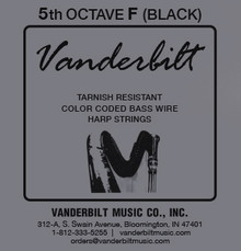 Vanderbilt Color-Coded Bass Wire:5th octave F (Black)