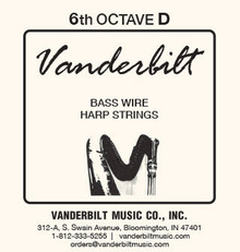 Vanderbilt Standard Bass Wire 6th octave D