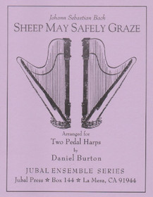 Bach JS/Burton: Sheep May Safely Graze (2 harps)