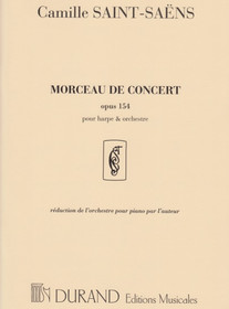 Saint-Saens, Morceau de Concert Op. 154 (Hp/Pno Reduction)