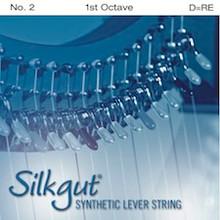 Silkgut Synthetic Lever String, 1st Octave D