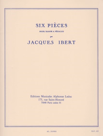 Ibert: Six Pieces for Harp