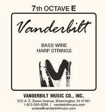 Vanderbilt Standard Bass Wire 7th octave E