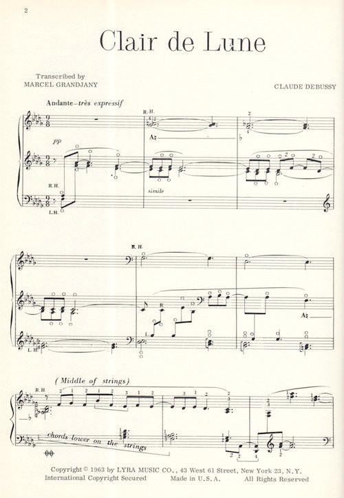 acheter populaire 7671c 0f502 Debussy/Grandjany: Clair de Lune
