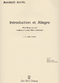 Ravel, Introduction and Allegro (Score)