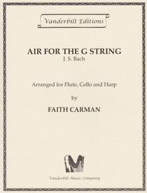 Bach JS/Carman: Air for the G String (fl/vc/hp)