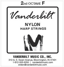 Vanderbilt Nylon, 2nd Octave F (Black)