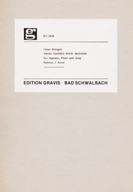 Bresgen: Trois Chants pour Signare - for Soprano, Flute and Harp (score)